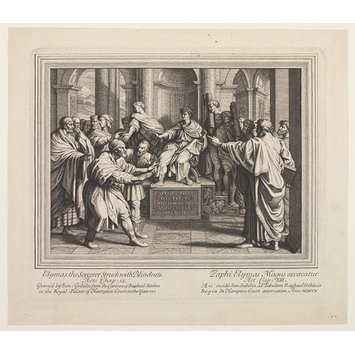 Print - The Seven Famous Cartons [sic] of Raphael Urbin; The Blinding of Elymas; Raphael Cartoons; The Conversion of the Proconsul; The Conversion of Sergius Paulus; Elymas the Sorcerer Struck Blind