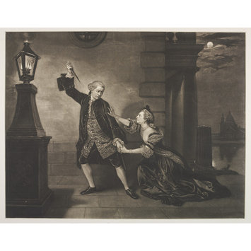 Print - Mr. Garrick and Mrs. Cibber in the character of Jaffier and Belvidera