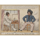A sailor sitting for his minature (Print)