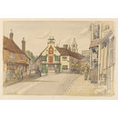 The Wheatsheaf Inn, between Wool Lane and North Street, Midhurst; Recording Britain (Drawing)