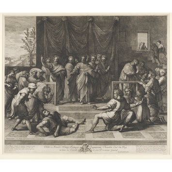 Print - The Death of Ananias; Raphael Cartoons