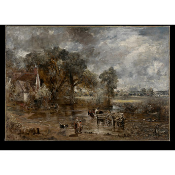 Oil painting - Full-Scale Study for The Hay Wain
