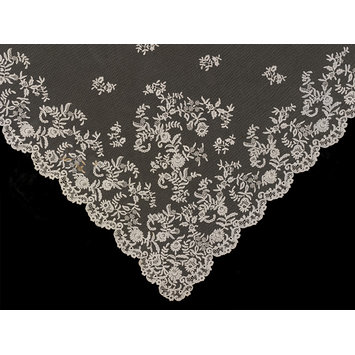 19th century Honiton lace wedding veil, Victoria and Albert Museum
