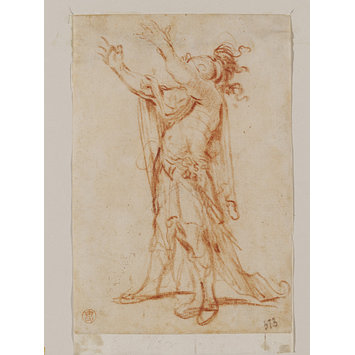 Drawing - Study of a soldier in Roman dress with uplifted arms