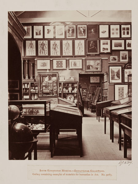 Early photograph of the interior of the V&A