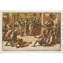 The Death of Ananias; Raphael Cartoons (Print)