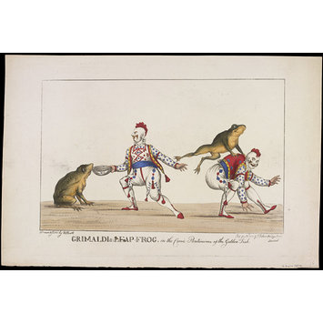 Print - Grimaldi's Leap Frog in the Comic Pantomime of the Golden Fish