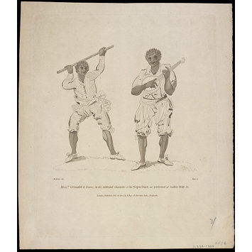 Print - Messrs. Grimaldi and Daves, in the celebrated Characters of the Negro Duet, as performed at Sadlers Wells, etc.