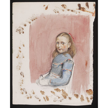 Watercolour - A Young Girl Seated, [perhaps Annie Susan, known as Poppie,  the daughter of the artist]