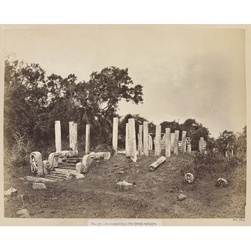 Photograph - Anuradhapura- The Daladá-máligáwa. View from the north-east. In this building was deposited the sacred tooth of Buddha on its arrival from India in the fourth century after Christ.; The Daladá-máligáwa at Anuradhapura: view from the north-east.