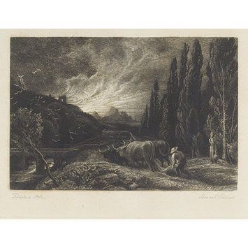 Print - The Early Ploughman; The Morning Spread upon the Mountains