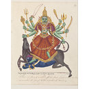 The Shakti of Shiva in her form as Durga Mahishasuramardini (Painting)