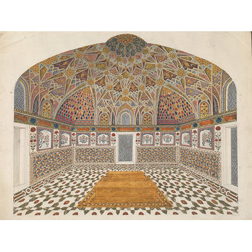 Painting - Seven drawings of Mughal architecture