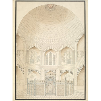 Architectural drawing - Six drawings of the Mughal architecture at Agra and Delhi.