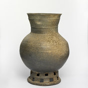Jar with pedestal