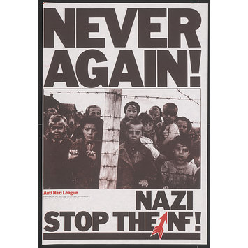 Poster - Never Again! Stop the Nazi NF!