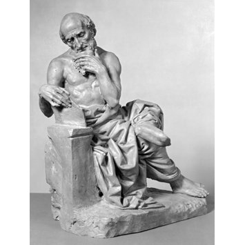 Sketch-model statuette - St. Jerome
