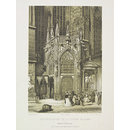 Side entrance to the cathedral of St Stephen, Vienna (Print)