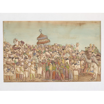 Painting - Sikh marriage procession