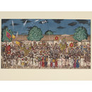 Shaivite procession at night (Painting)