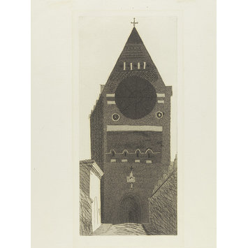 Print - St. Bartholomew's Church; Brighton Aquatints