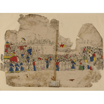 Painting - One of Thirty-two paintings depicting festivals, ceremonies and occupations.