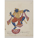 Krishna Holding a Flute and Dancing on a Lotus (Painting)