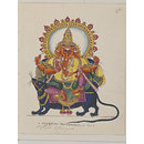 Ganesha, the god of wisdom and the remover of obstacles (Painting)