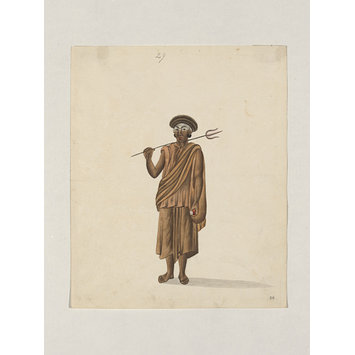 Painting - One of Forty-two drawings of occupations and conveyances