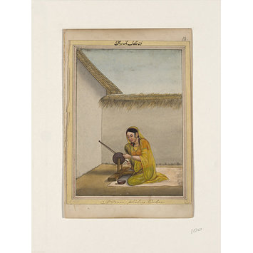 Painting - An album containing fifty-three drawings depicting occupations.