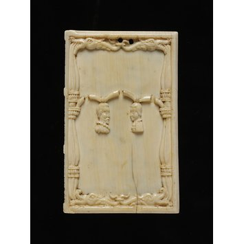Tablet. carved ivory