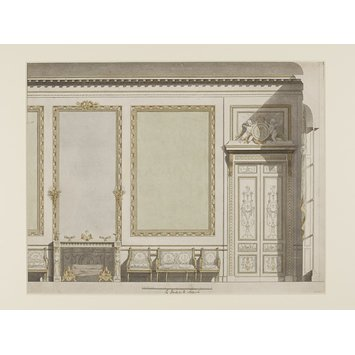 Drawing - Elevation of a wall in the House of the Duchess de Mazarin