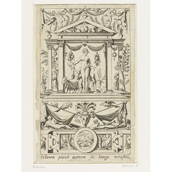 Print - Cybele (plate 2); Set of 20 grotesque panels, containing pagan divinities
