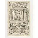 Cybele (plate 2); Set of 20 grotesque panels, containing pagan divinities (Print)