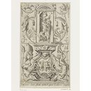 Pluto (plate 7); Set of 20 grotesque panels, containing pagan divinities (Print)
