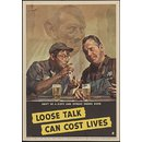 Don't be a dope and spread inside dope - Loose talk can cost lives (Poster)