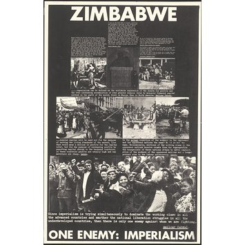 Poster - Zimbabwe.  One Enemy: Imperialism [verso]; Solidarity with Grunwick Strikers [recto]