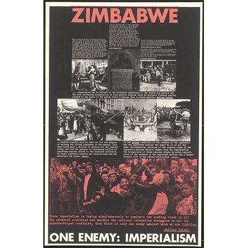 Poster - Zimbabwe.  One Enemy: Imperialism