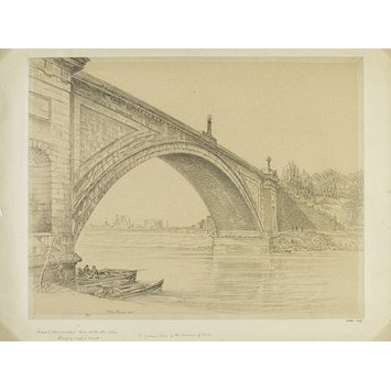 Watercolour - Grosvenor Bridge [by Thomas Harrison], Chester; Recording Britain