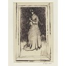 Arrangement in Black No. 8: Portrait of Mrs Cassatt (Drawing)