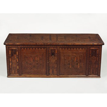 Chest - Nonsuch chest; Nonesuch chest