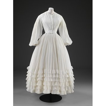 Wedding dress and petticoat
