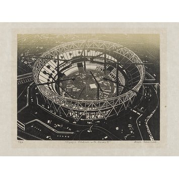 print - Olympic Stadium with Cranes II