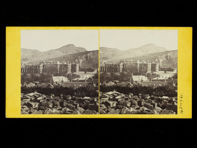 Stereograph of Holyrood Palace