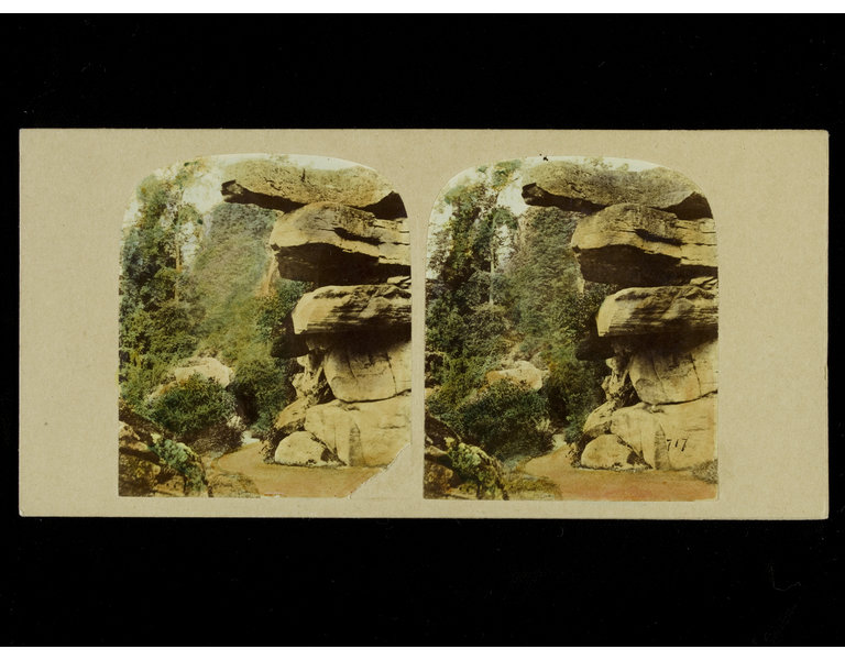 Stereographic photograph of a landscape
