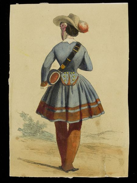 lithograph of a woman in uniform