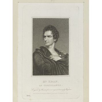 Print - Mr. Edmund Kean as Coriolanus