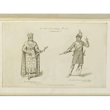 Print - The first and second dress of Mr. Kean in Richard II.