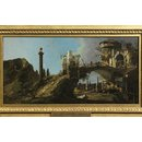 Capriccio: Ruined Bridge with Figures (Oil painting)