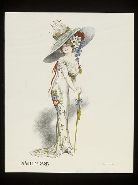 Fancy dress fashion plate